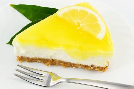 cheesecake citroen Stockfoto
