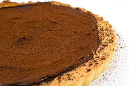 ganache: cake with chocolate ganache Stock Photo