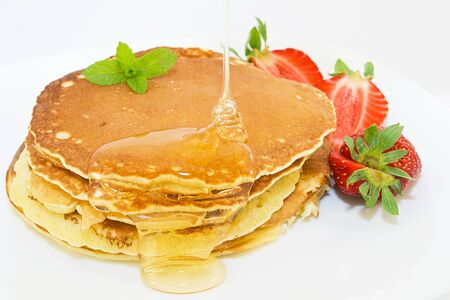 pancakes with syrup photo
