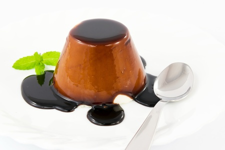 panna cotta with chocolate photo