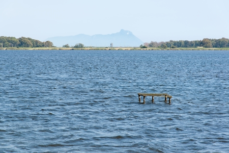 felice: Fogliano Lake with views of San Felice Circeo Latina