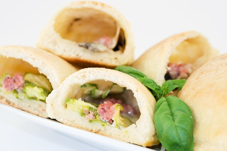 calzone stuffed with vegetables Stock Photo - 13984239