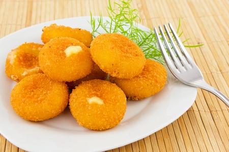 gebakken mozzarella-kaas Stockfoto