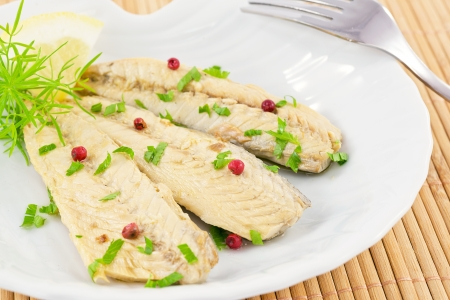 gemarineerde makreel Stockfoto