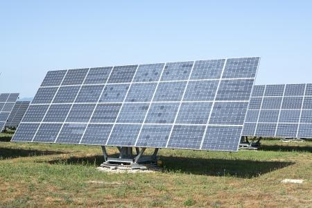 expedient: solar panel  Stock Photo