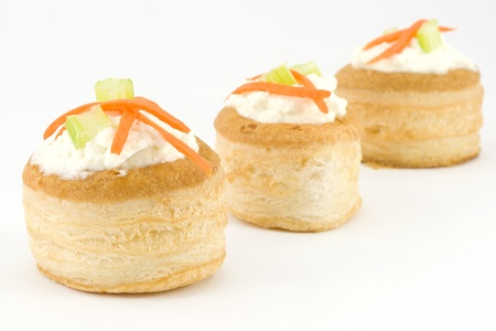 vents: vol au vents with cream cheese