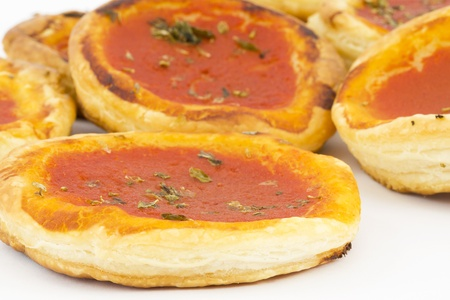 pizza with tomato sauce photo