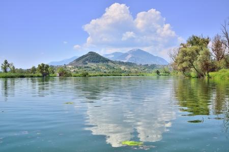 포스타 Fibreno, 프로시 노네의 호수 스톡 콘텐츠