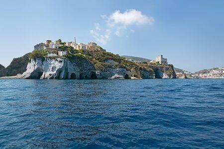 pontine: Grotte di Pilato seen from the sea, Ponza Stock Photo