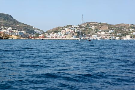 pontine: Ponza Island seen from the sea