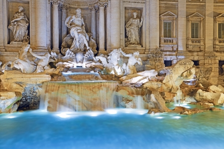 roma antigua: Trevi Fountain, Rome Foto de archivo