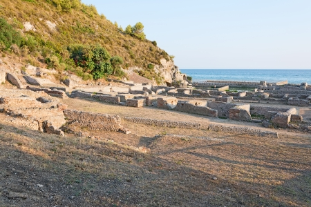 The remains of the Villa of Tiberio, Sperlonga Imagens