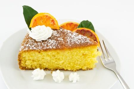 orange cake Imagens