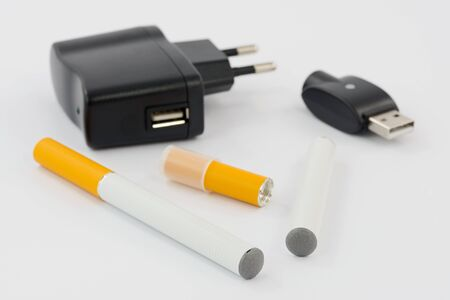 background e cigarette: electronic Cigarette Stock Photo