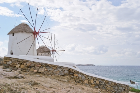 windmills, Mykonos-Greece Stock Photo - 15932137