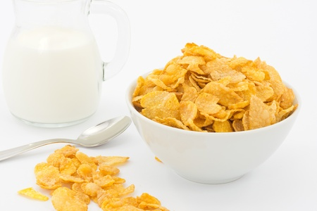 milk and cornflakes Stock Photo - 16449385