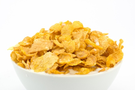 milk and cornflakes Stock Photo - 16449410