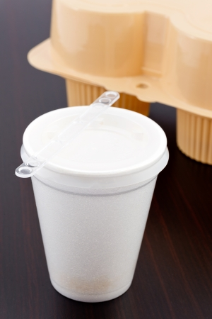 biodegradable material: glass polystyrene