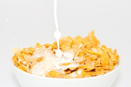 cornflakes: milk and cornflakes