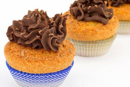 ganache: cupcakes with chocolate ganache