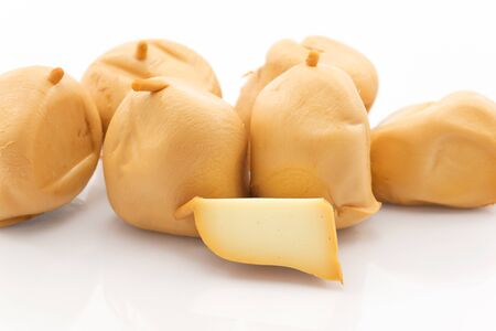 scamorza cheese: scamorza smoked Stock Photo