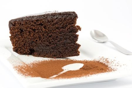 rebanada de pastel: torta de barro, pastel de chocolate