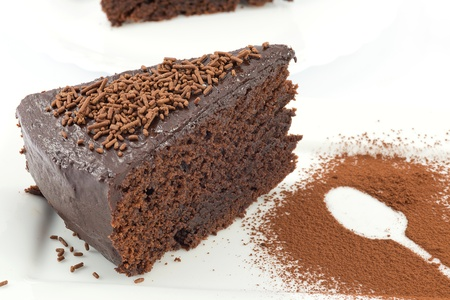 mud cake, chocolate cake  photo