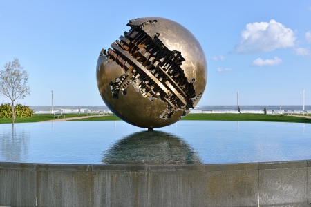 Pesaro and the Great Ball of A  Pomodoro  sculptor