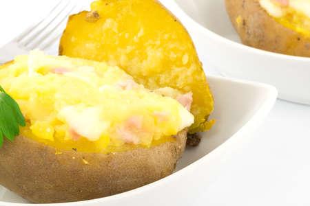potato stuffed with ham and mozzarella Stock Photo - 16949602