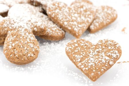 cookies with cinnamon and cocoa photo