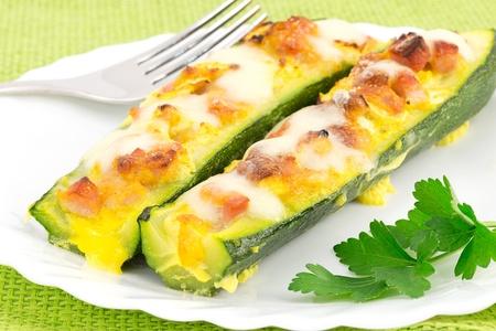 zucchini with ham and mozzarella