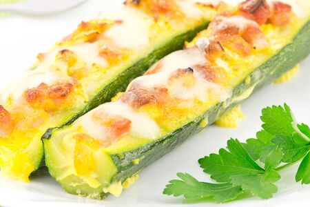 zucchini with ham and mozzarella Stock Photo - 17074042