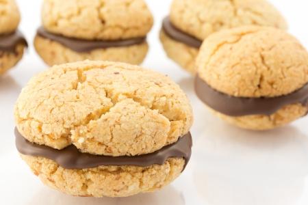 kiss biscuits: baci di dama, biscuits  Stock Photo