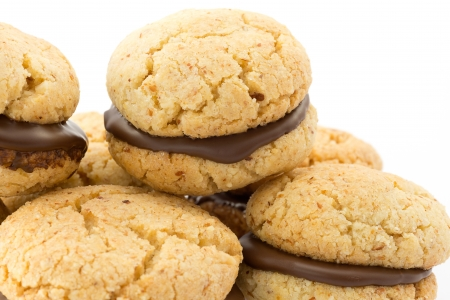 bakery products: baci di dama, biscuits  Stock Photo