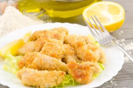 nuggets de poulet: p�pites de poulet au citron