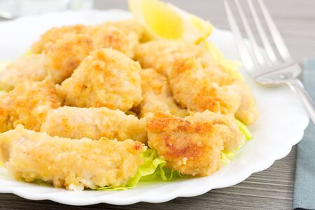 nuggets pollo: nuggets de pollo con lim�n
