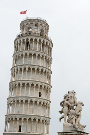cherubs: Leaning Tower of Pisa and the fountain of cherubs