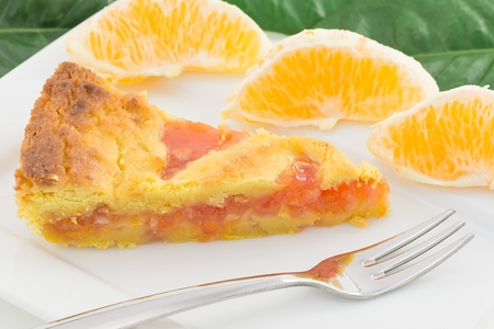 tart with orange marmalade