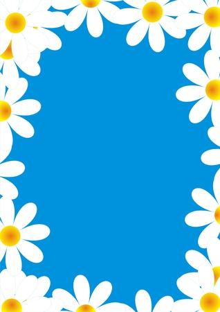 daisy vector: daisies on blue