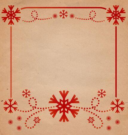 christmas vintage snowflake card illustration illustration