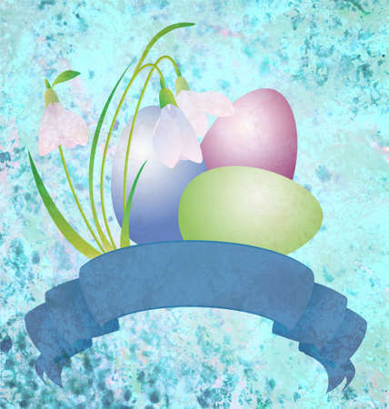 easter eggs grunge illustration illustration