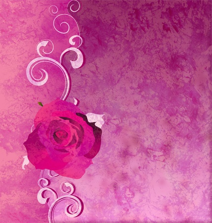 magenta rose grunge illustration background romance background illustration