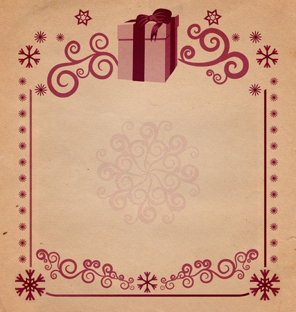 christmas vintage snowflake card illustration illustration