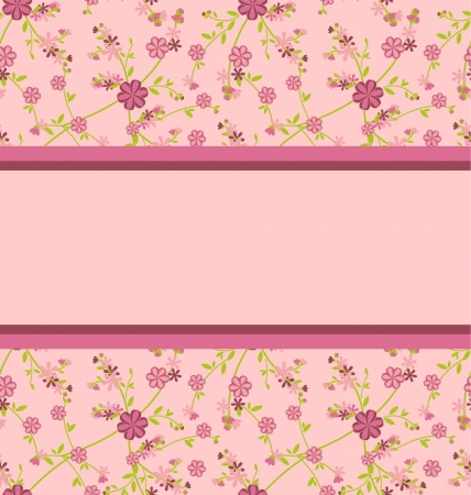 pink seamless pattern with clear space for your test vector Stock Photo - 14820857