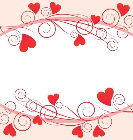 rote Herzen Grafikrahmen auf weißem Hintergrund