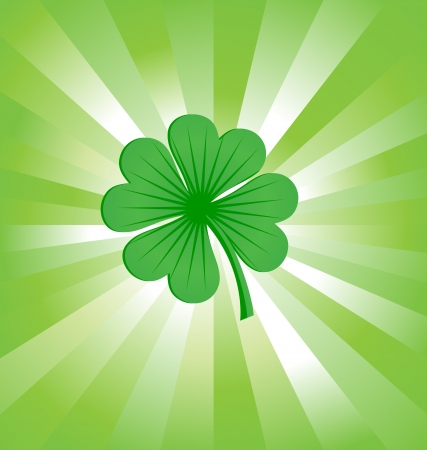 4 leaves luck clover green Stock Photo - 14815782