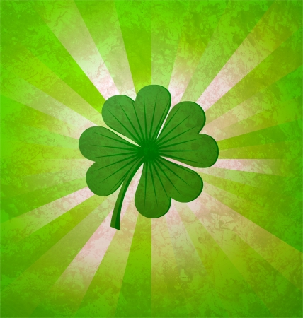 4 leaves luck clover green Stock Photo - 14821258