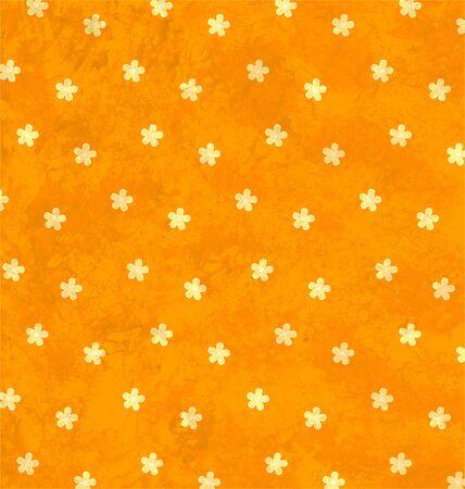 orange grunge texture with decor flowers ornament photo