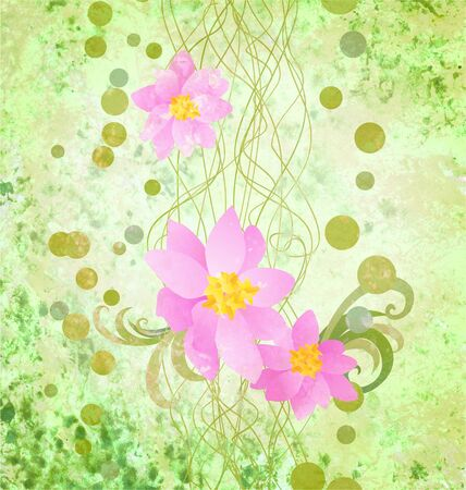 pink flowers romantic spring vintage background, love and cute photo