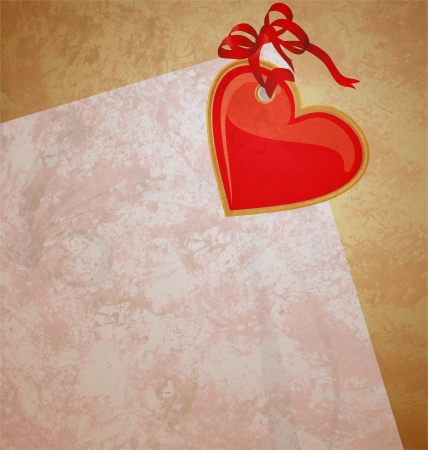 red heart wintage xtyle valentines day illustration for love, romance and wedding illustration